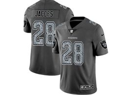 Mens Women Nfl Oakland Raiders #28 Josh Jacobs Pro Line Gray Fashion Static Vapor Untouchable Limited Jersey