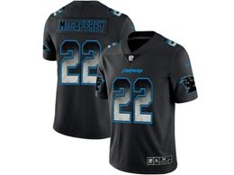 Mens Nfl Carolina Panthers #22 Christian Mccaffrey Pro Line Black Smoke Fashion Limited Jersey