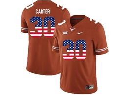 Mens Ncaa Nfl Texas Longhorns #30 Carter Orange Throwback Jersey