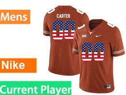 Mens Ncaa Nfl Texas Longhorns Current Player Orange Nike Limited Jersey