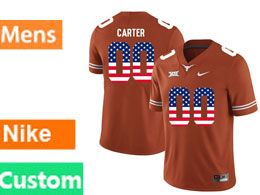 Mens Ncaa Nfl Texas Longhorns Custom Made Orange Nike Limited Jersey