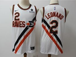 Mens Nba Los Angeles Clippers #2 Kawhi Leonard White New Season Swingman Jersey