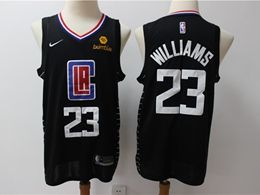 Mens Nba Los Angeles Clippers #23 Lou Williams Black Swingman Jersey