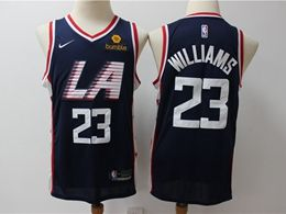Mens 2019 New Nba Los Angeles Clippers #23 Lou Williams Navy Blue City Edition Swingman Jersey