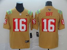 Mens Nfl Los Angeles Rams #16 Jared Goff Yellow City Edition Nike Vapor Untouchable Limited Jersey