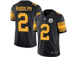 Mens Pittsburgh Steelers #2 Mason Rudolph Black Vapor Untouchable Color Rush Limited Player Jersey