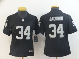 Women Nfl Oakland Raiders #34 Bo Jackson Black Vapor Untouchable Limited Jersey