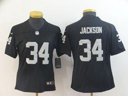 Women Nfl Oakland Raiders #34 Bo Jackson Black Vapor Untouchable Limited Jersey