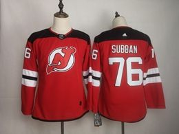 Women Nhl New Jersey Devils #76 P.k. Subban Red Home Adidas Jersey