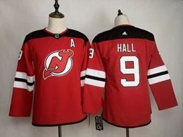 Women Nhl New Jersey Devils #9 Taylor Hall Red Home Adidas Jersey