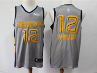 Mens 2019 New Nba Memphis Grizzlies #12 Ja Morant Gray City Edition Nike Jersey