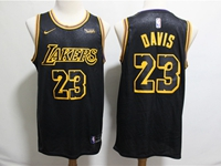 Mens 2019 New Nba Los Angeles Lakers #23 Davis Black City Edition Swingman Nike Jersey
