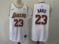 Mens 2019 New Nba Los Angeles Lakers #23 Davis White City Edition Swingman Nike Jersey
