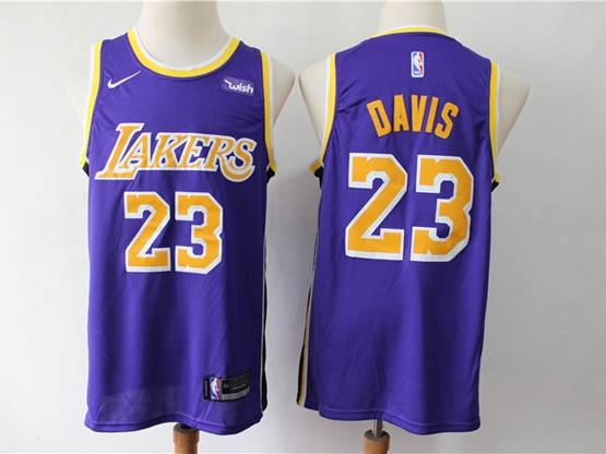 Mens 2019 New Nba Los Angeles Lakers #23 Davis Purple Swingman Nike Jersey