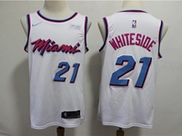 Mens 2019 Nba Miami Heat #21 Hassan Whiteside White City Edition Nike Swingman Jersey