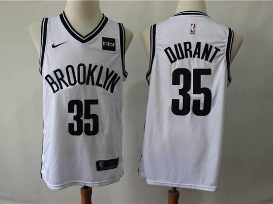 Mens Nba Brooklyn Nets #35 Durant White Nike Swingman Jersey
