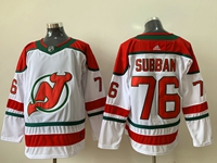 Mens Nhl New Jersey Devils #76 P.k. Subban White Adidas Jersey