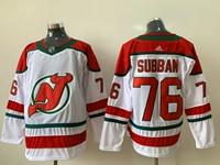 Mens Nhl New Jersey Devils #76 P.k. Subban White Adidas Jersey