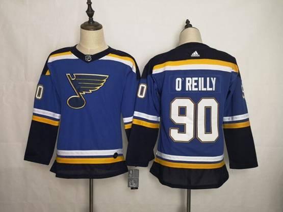 Women Youth Nhl St.louis Blues #90 Ryan O'reilly Blue Adidas Jersey