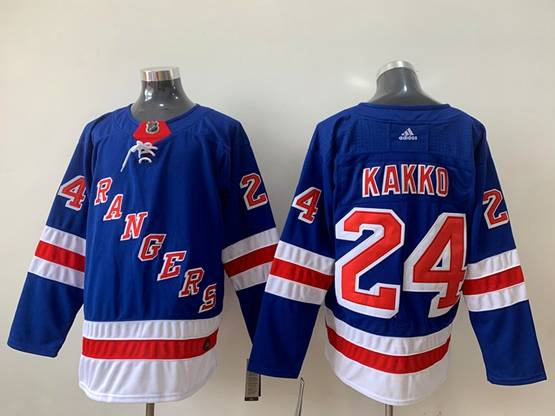 Mens Nhl New York Rangers #24 Kaapo Kakko Blue Home Premier Adidas Jersey