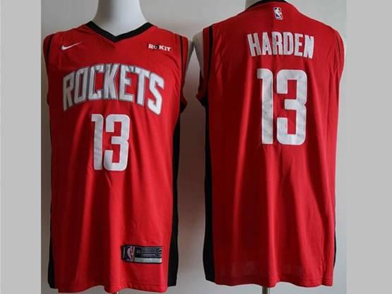 Mens New Season Nba Houston Rockets #13 James Harden Red Nike Swingman Jersey
