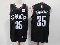 Mens 2018-19 Nba Brooklyn Nets #35 Durant Black City Edition Nike Jersey