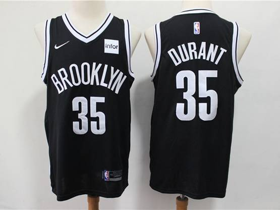 Mens Nba Brooklyn Nets #35 Durant Black Nike Swingman Jersey