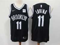 Mens Nba Brooklyn Nets #11 Kyrie Irving Black Nike Swingman Jersey