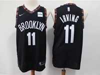 Mens 2018-19 Nba Brooklyn Nets #11 Kyrie Irving Black City Edition Nike Jersey
