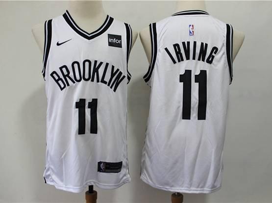 Mens Nba Brooklyn Nets #11 Kyrie Irving White Nike Swingman Jersey