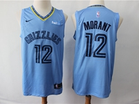Mens New Season Nba Memphis Grizzlies #12 Ja Morant Light Blue Nike Swingman Jersey