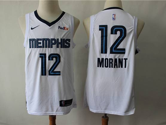 Mens New Season Nba Memphis Grizzlies #12 Ja Morant White Nike Swingman Jersey