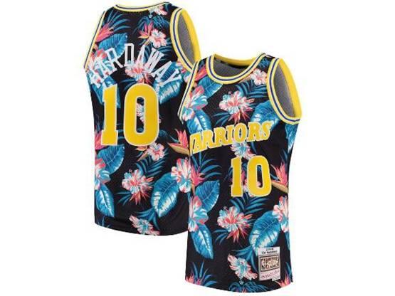 Mens Nba Golden State Warriors #10 Tim Hardaway Mitchell & Ness Floral Fashion Mesh Jersey