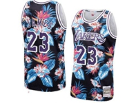 Mens Nba Los Angeles Lakers #23 Davis Mitchell & Ness Floral Fashion Mesh Jersey