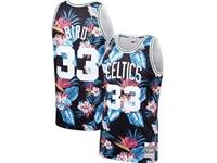 Mens Nba Boston Celtics #33 Larry Bird Mitchell & Ness Floral Fashion Mesh Jersey