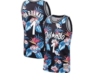Mens Nba Orlando Magic #1 Tracy Mcgrady Mitchell & Ness Floral Fashion Mesh Jersey