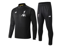 Mens 19-20 Soccer Liverpool Club Black Training And Black Pants Training Suit Short Zipper