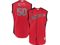 Mens 2019 Mlb All Star Game Boston Red Sox #50 Mookie Betts Red Sleeveless Cool Base Jersey