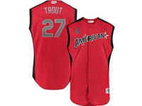 Mens 2019 Mlb All Star Game Los Angeles Angels #27 Mike Trout Red Sleeveless Cool Base Jersey