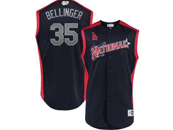 Mens 2019 Mlb All Star Game Los Angeles Dodgers #35 Cody Bellinger Blue Sleeveless Cool Base Jersey