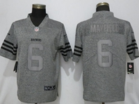 Mens Nfl Cleveland Browns #6 Baker Mayfield Stitched Gridiron Gray Vapor Untouchable Limited Nike Jersey