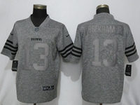 Mens Nfl Cleveland Browns #13 Odell Beckham Jr Stitched Gridiron Gray Vapor Untouchable Limited Nike Jersey