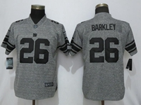 Women Nfl New York Giants #26 Saquon Barkley Stitched Gridiron Gray Vapor Untouchable Limited Nike Jersey