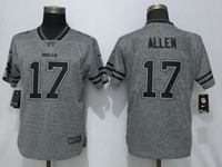 Women Nfl Buffalo Bills #17 Josh Allen Green Stitched Gridiron Gray Vapor Untouchable Limited Nike Jersey
