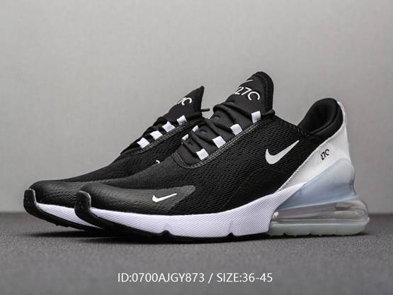 Mens And Women Nike Air Max 270 Se Running Shoes Color Black