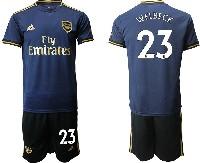 Mens 19-20 Soccer Arsenal Club #23 Welbeck Navy Blue Away Short Sleeve Suit Jersey