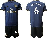 Mens 19-20 Soccer Arsenal Club #6 Koscielny Navy Blue Away Short Sleeve Suit Jersey