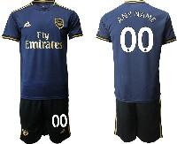 Mens 19-20 Soccer Arsenal Club ( Custom Made ) Navy Blue Away Short Sleeve Suit Jersey
