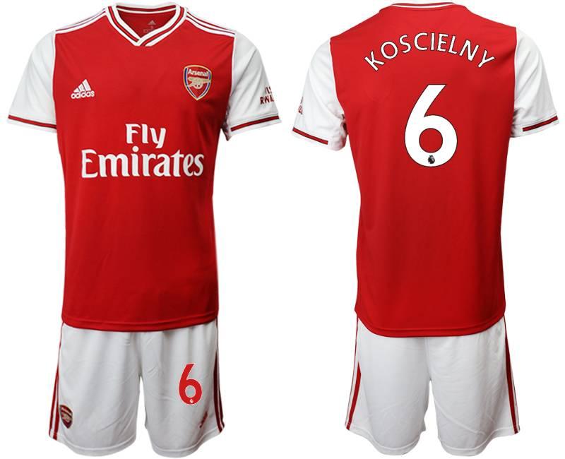 Mens 19-20 Soccer Arsenal Club #6 Koscielny Red Home Short Sleeve Suit Jersey