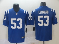 Women Nfl Indianapolis Colts #53 Darius Leonard Blue Vapor Untouchable Limited Jersey